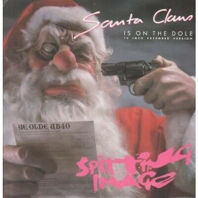 "SPITTING IMAGE Santa Claus Is On The Dole 12"" VINYL UK Virgin 1986 2 Track"