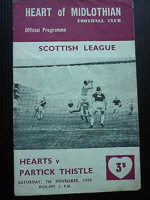 Hearts V Partick Thistle 7/11/1959