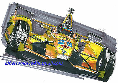 Fernando Alonso Mclaren Andretti Indianapolis Helmet 2017 Oil Painting