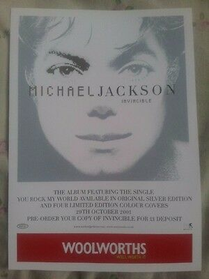 RARE Michael Jackson Invincible Woolworths Flyer