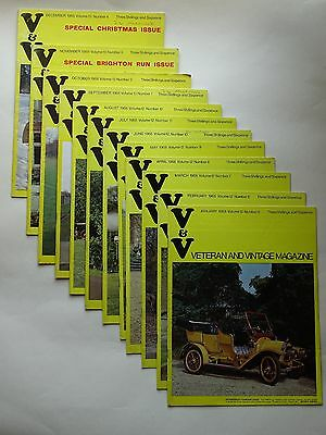 """""""Veteran and Vintage Magazine"""" for 1968; 12 issues in all"""