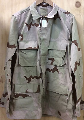 Us Gi Desert Camo Ripstop Shirt Medium Long New With Tag (15_S01)