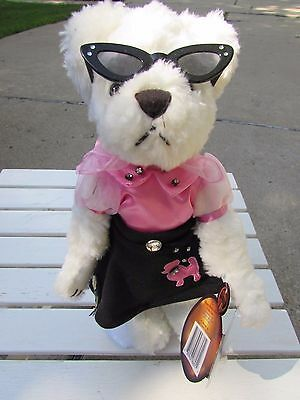 NEW Tag 1999 Pickford Brass Button Furry Teddy Bear LACY 20th Century Exc Cond