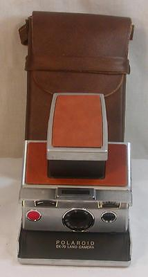 Original Polaroid Sx-70 Land Camera With Leather Case Film Tested Working #2