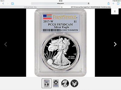 2017-W 1 oz Proof Silver Eagle PCGS Certified/Graded PR70DCAM First Strike