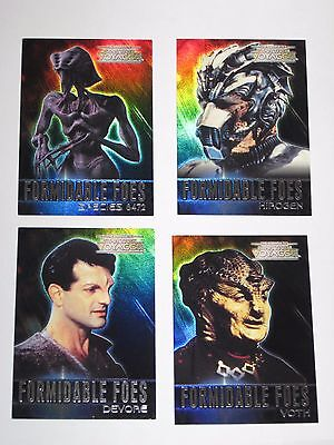2002 Complete Star Trek Voyager FORMIDABLE FOES INSERT 4 CARD LOT! #F4 F5 F7 F8!