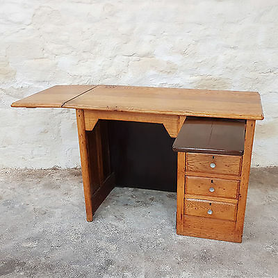 1930's Childs Oak Pedestal Desk (Vintage Antique)