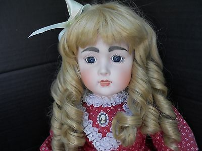 """Reproduction French Bru Jne Artist Doll - Cloth and Bisque - 24"""""""