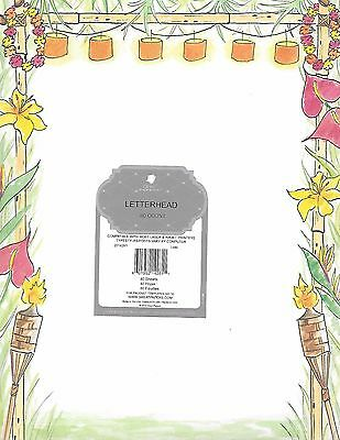 """Great Papers """"Luau"""" Designer Computer Stationary Letterhead- Factory Sealed!"""