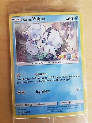 Pokemon cards - Vulpix - Limited Edition - Toys R Us