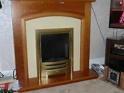 Electric coal effect fire & surround