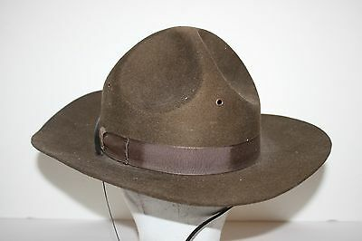 Antique Vintage Boy Scout Campaign Cavalry Style Hat