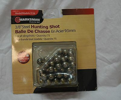 Marksman 75 count 3/8 inches steel hunting shot BBS (#bte48)