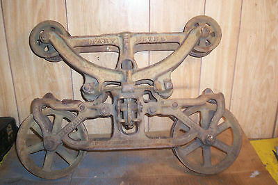 Antique 100 Year Old Harvester Hay Carrier - Pat'd 1916 - Good Condition