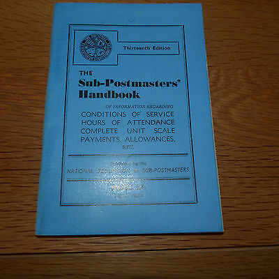 **REDUCED** GPO 1950s POST OFFICE POSTMASTERS HANDBOOK ROYAL MAIL CWU POSTMAN