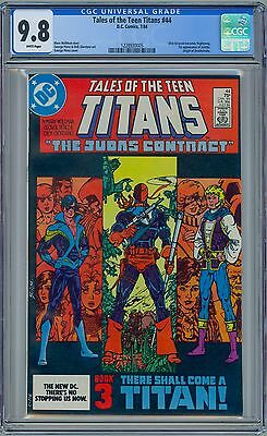 TALES OF THE TEEN TITANS #44 - CGC 9.8 WP NM/MT First NIGHTWING JERICHO