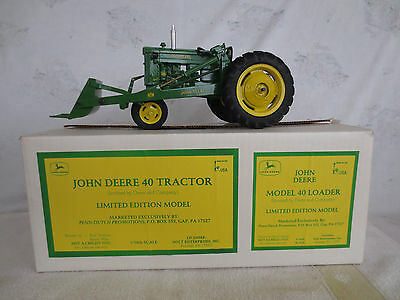 1/16 SCALE JOHN DEERE 40 FARM TOY TRACTOR with 40 LOADER MADE BY PDP NOLT