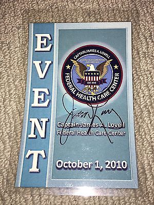 Jim Lovell hand signed badge from 2010 appearance - Apollo 13 astronaut NASA