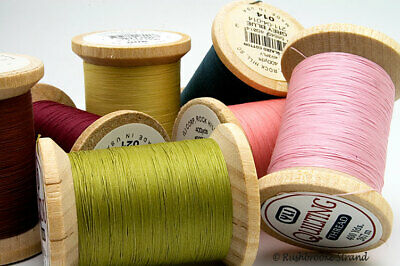 YLI Glazed Cotton Thread 40wt 3 ply 400 yard wooden spools - 26 Colors