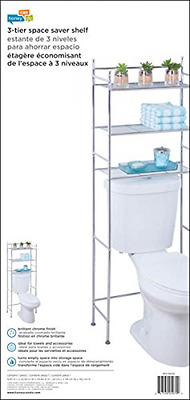 Bathroom Tower Shelf 3 Tier Rack Over The Toilet Storage Organizer Space Saver
