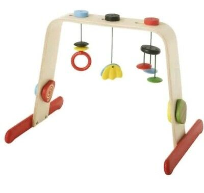 Ikea Leka Baby Gym Wooden Activity Play Mobile - Great Condition