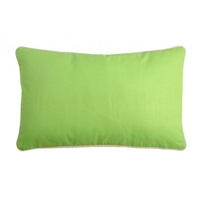 Coussin rectangulaire 30x50 Lin-Vert 100% Coton DUO