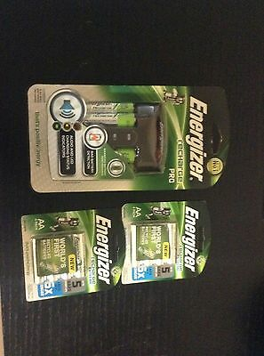 Energizer Recharge Pro Battery Charger And 2 Pack Of Aaa Rechargeable Batterries