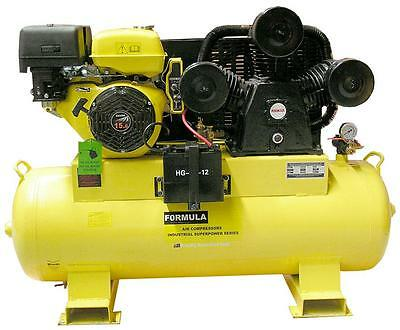 Air Compressor 15 Hp Petrol 45 Cfm. 160 Litre Tank. Brand New*