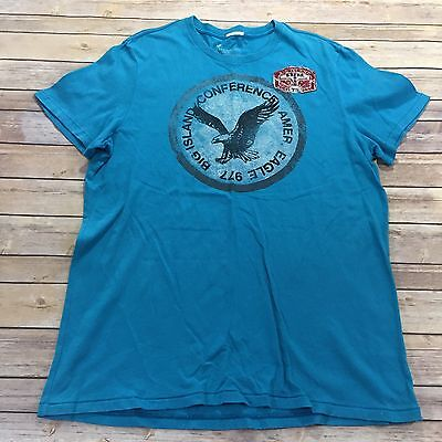 American Eagle AEO Men's Size XL Vintage Fit Big Island T-Shirt with Patch Blue