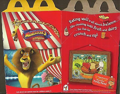 Mcdonald's Happy Meal Box - Madagascar 3