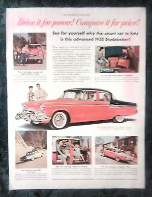 1955 STUDEBAKER AD FROM SATURDAY EVENING POST 1950's