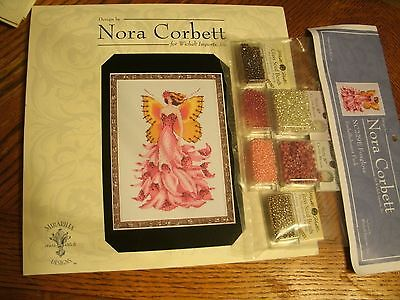 """foxglove"" Nora Corbett Xstitch Charts With Embellishment Pack"
