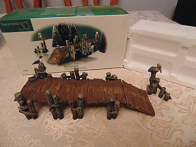 Dept 56 Wooden Pier (Set of 2) #52766 - with box