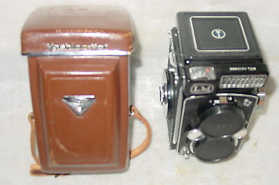 Yashica-Mat Lm Copal Mxv Tlr Camera Yashinon 80Mm Lens W/ Leather Case Very Nice