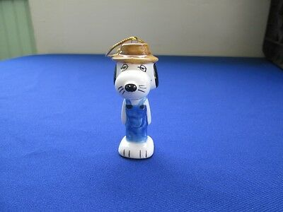 1970's Peanuts Ceramic Ornament Snoopy Brother Spike