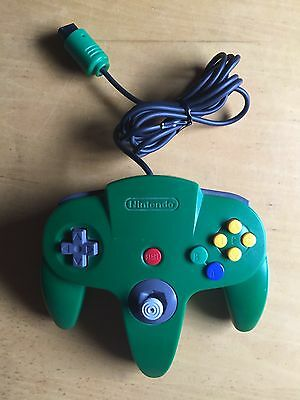 Nintendo 64 N64 Controller NUS-005 Green Official Used Tested Working Good