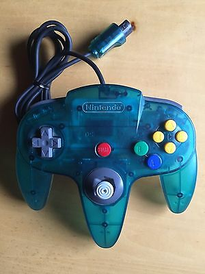 Nintendo 64 N64 Controller NUS-005 Transparent Official Used Tested Working