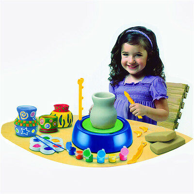 New Plastic Children Pottery Machine Electric Pottery Creative Desktop Games US