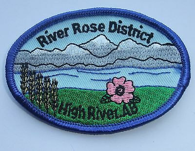 Girl Guides of Canada Badge Patch River Rose District High River Alberta