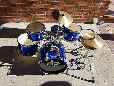 Drum set with stool and drum sticks