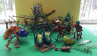 Disney Pixar A BUGS LIFE Toy Lot of 16 Action Figures with extras MATTEL