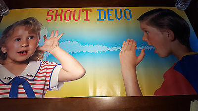 """Devo Shout 1984 promotional  Hanging poster 38 Wx19""""H punk, new wave"""