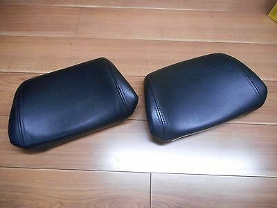 Volvo 240 245 740 760 Black Front Leather Seat Headrest Set of 2 - OEM