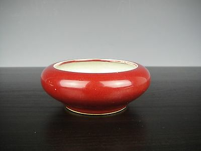 Very Nice Chinese Porcelain Red Glaze Brush Washer.19th C.