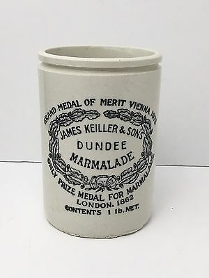 Antique James Keiller & Sons Dundee Marmalade Ceramic Pottery Jar Crock England