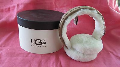 UGG AUSTRALIA CHESTNUT GENUINE SHEARLING EARMUFFS New in Box Retail $85