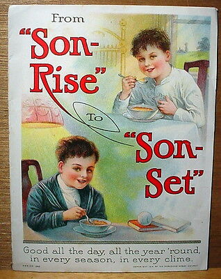 From Son-Rise to Son-Set Shredded Wheat Brochure 1914 Antique Advertising Piece