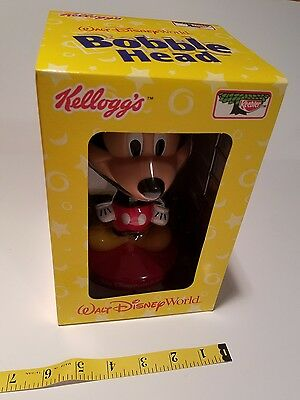 Mickey Mouse Bobblehead Kellogg's 2002 Mint Condition Keebler New In Box