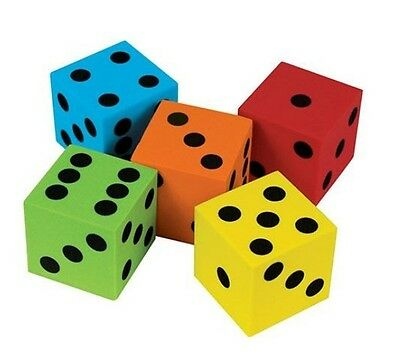 40mm Dot Dice  -  Educational, Maths, Toys, Numeracy, School, Learning, games