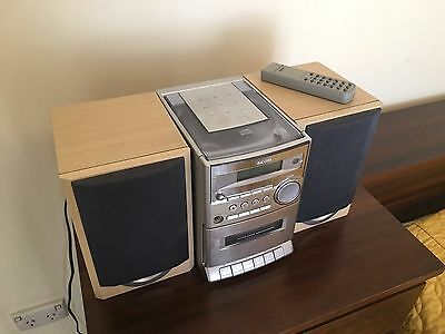Sanyo Micro stereo system, CD and Cassette and AM/FM tuner.